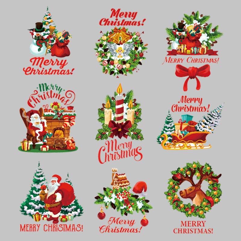Рождественские цветы, термонаклейки, винил, теплопередача, модные Аппликации, топы, сделай сам, Железный патч, платья для девочек, носки, парчи, передача|Заплатки|   | АлиЭкспресс