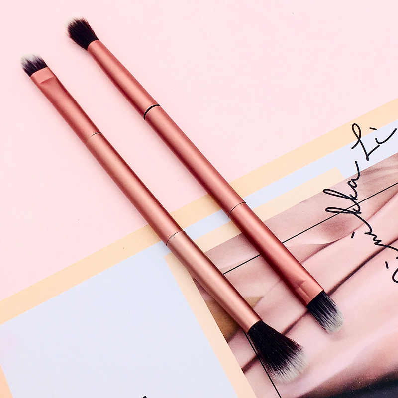 Double Ended Eyeshadow Brush Eye Make-Up Kwasten Beeldhouwen Concealer Poeder Make-Up Essentials Borstels Cosmetica Tool