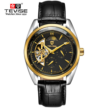 TEVISE Men Watches Waterproof Automatic Mechanical Watch Luxury Brand Leather Strap Watch Colorful Fashion relogio masculino