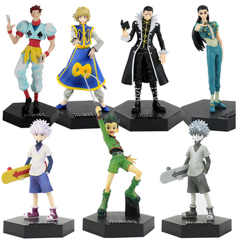 HunterxHunter Anime Figure Hisoka Killua Zoldyck GON FREECSS Hunter x Hunter PVC Anime Action Figure Toys Collectible Figurine 7 8 neca predator ultimate 30th anniversary jungle hunter pvc action figure jungle hunter unmasked collectible model doll toys