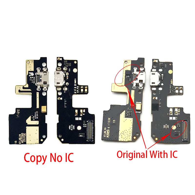 For Xiaomi Redmi 5 Plus USB Charging Port Dock Connector Flex Cable With Microphone Board