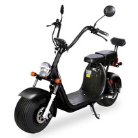 EEC COC Certified Street Legal Electric Vehicles Motorcycle 60V 20ah 2 Seats Adult Used Big Fat Tire Electric Citycoco Scooter 1