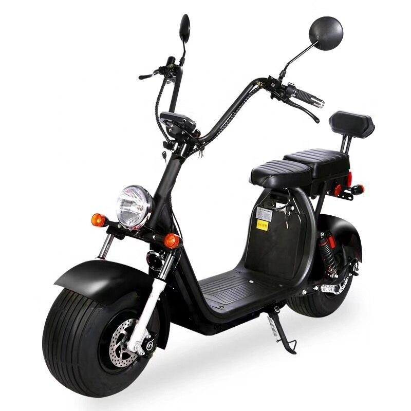 Сертифицированные уличные легальные электромобили EEC COC, мотоцикл 60 в 20 А · ч, 2 места, взрослый Электрический скутер Citycoco с большими толстыми...