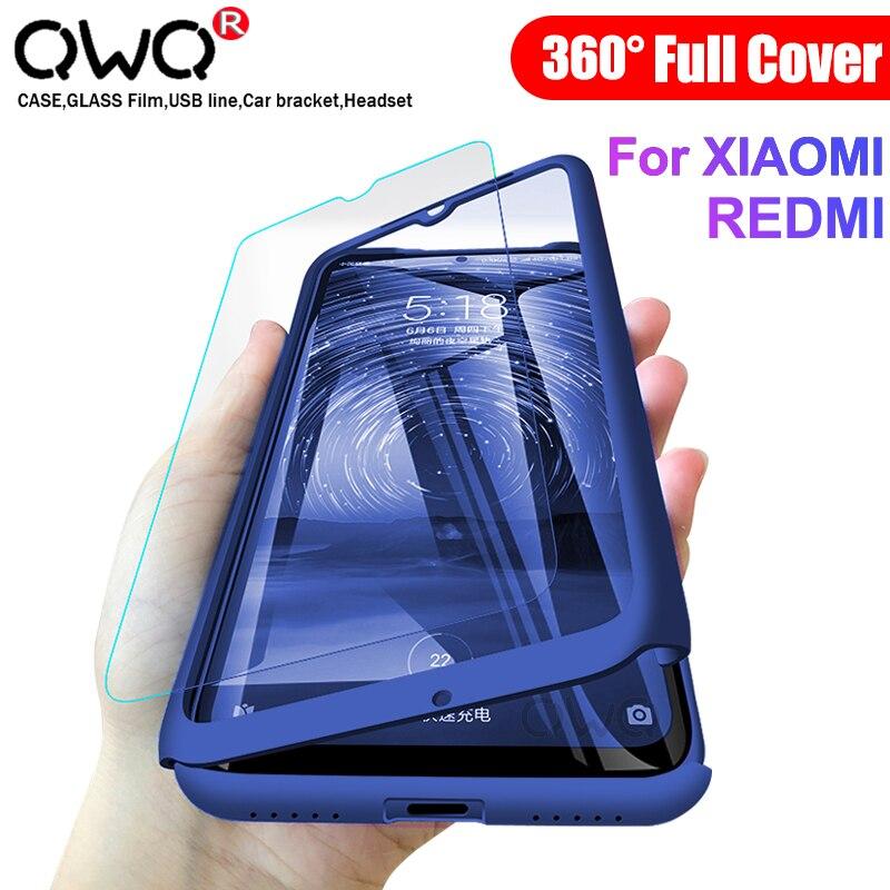 Funda completa 360 a prueba de golpes para Xiaomi mi 10 9T Pro 9 SE A3 Lite fundas vidrio templado Redmi Note 8 7 6 5 9 S Pro Max bolsa de protección carcasa