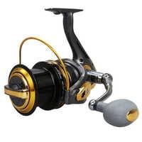 Rapport de vitesse 12BB + 1RB 4.6: 1 moulinet de pêche en rotation grande roue distante avec poignée échangeable