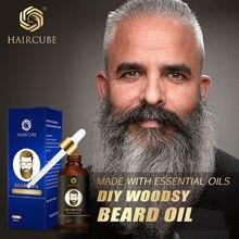 Haircube erkekler hızlı sakal büyüme yağı doğal sakal büyüme artırıcı kalın yağı besleyici saç kremi sakal bakım ürünü