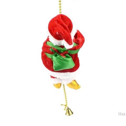 papai noel eletrico escalada corda boneca brinquedo