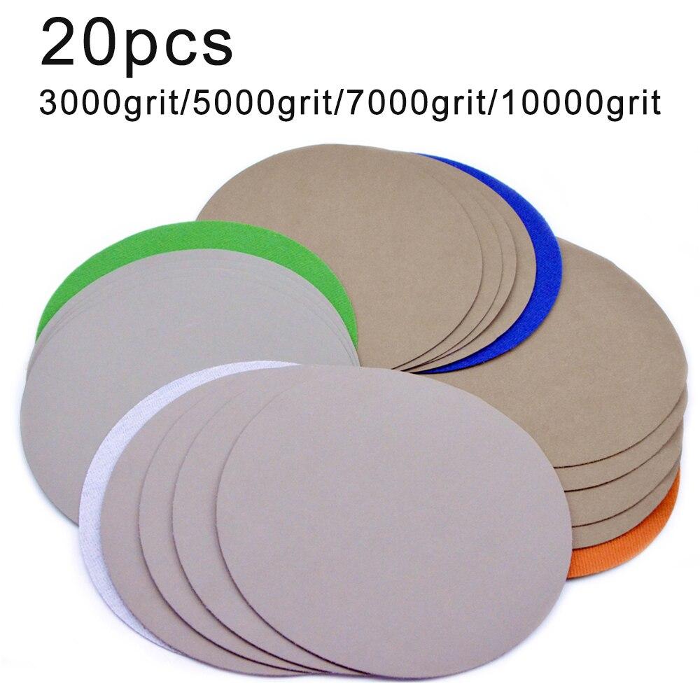 7 Inch 180mm 3000-10000 Grit Wet & Dry Sander Sanding Discs Flocking Polishing  For Automotive Metal Polishing