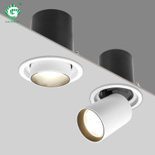 Recessed Aluminum LED Downlight Rotating 360  Degrees 12W 25W Ceiling Mounted Lamps Foyer Bedroom AC 200V 220V 230V Spot Light