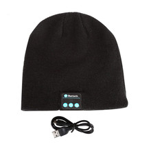 Unisex Soft Warm Beanie Hat Wireless Bluetooth Smart Cap Headphone Head