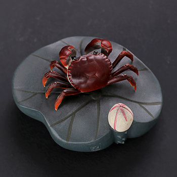 creative crab color change tea pet yixing zisha purple clay home decoration purple grit tea play house warming gift on sales