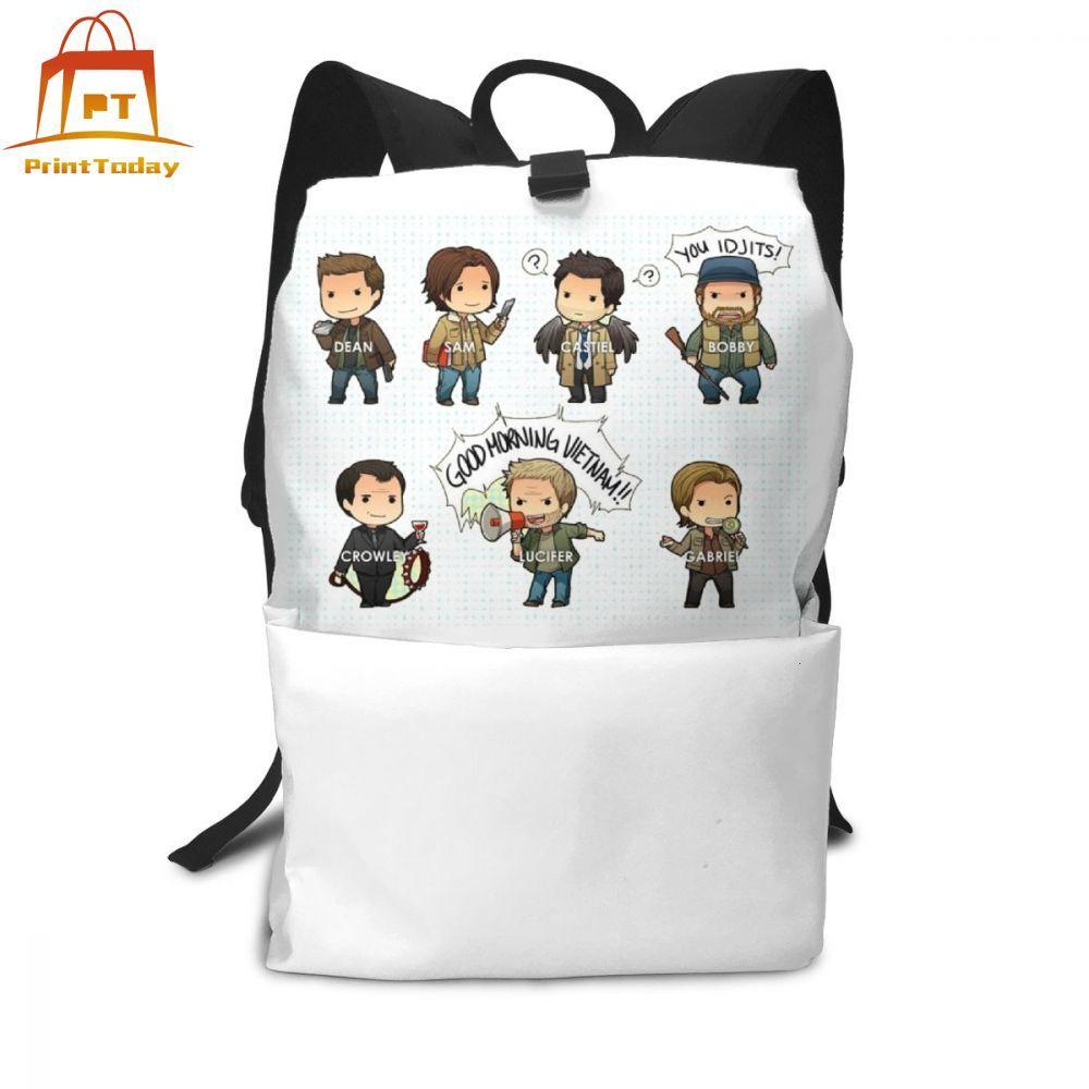 Supernatural Backpack Supernatural Backpacks Student Multi Pocket Bag High Quality Men - Women Print Bags