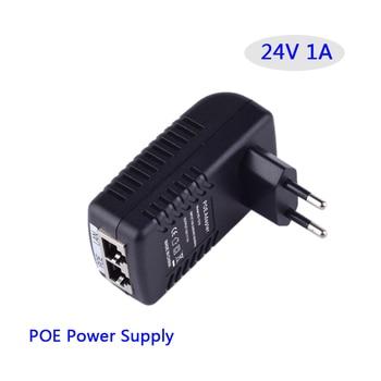 24V 1A Adapter poe LAN Ethernet zasilanie 24V1A zasilacz impulsowy. Wtyczka ue