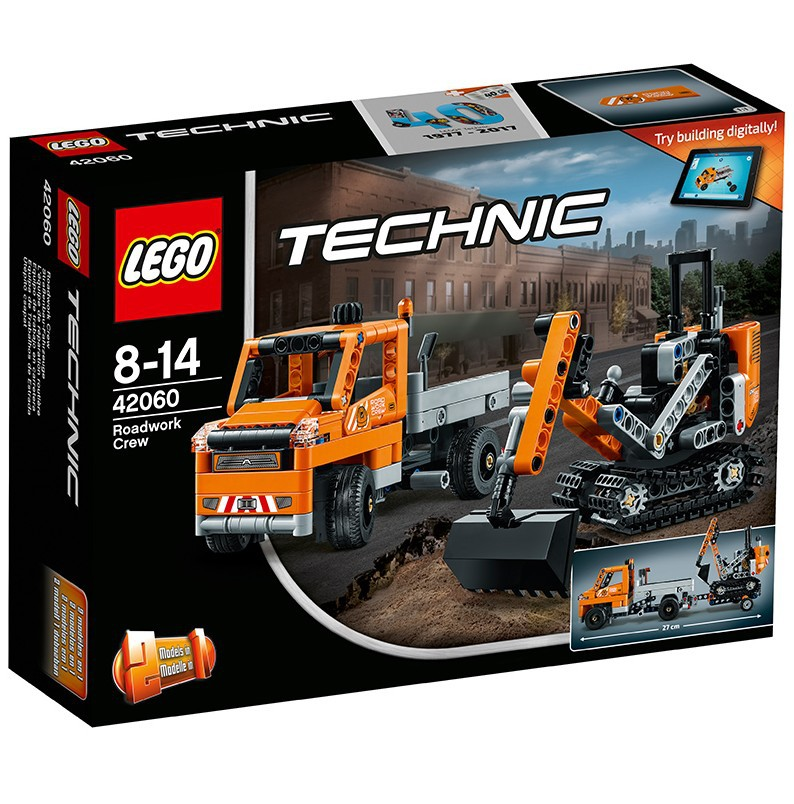 <font><b>LEGO</b></font> Machinery Group <font><b>42060</b></font> Road Engineering Vehicle Combination Building Blocks Toy image