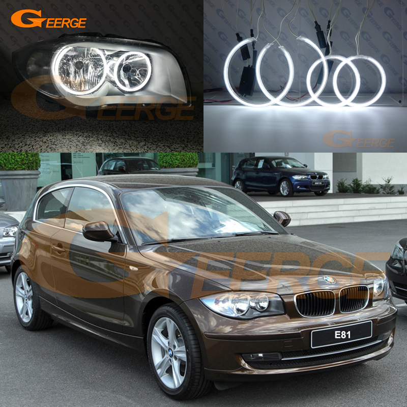Phare halogène 2004-2011 pour BMW Série 1 E81 E87 Excellente illumination ultra brillante Kit anneaux halo CCFL Angel Eyes