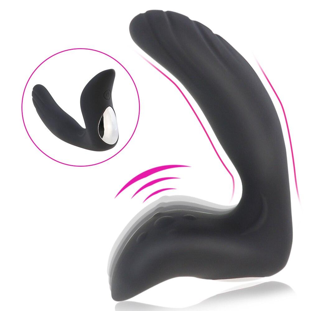 Güçlü titreşimli prostat masaj aleti Anal Plug 10 stimülasyon modelleri Butt Plug silikon yetişkin seks oyuncakları erkekler için su geçirmez