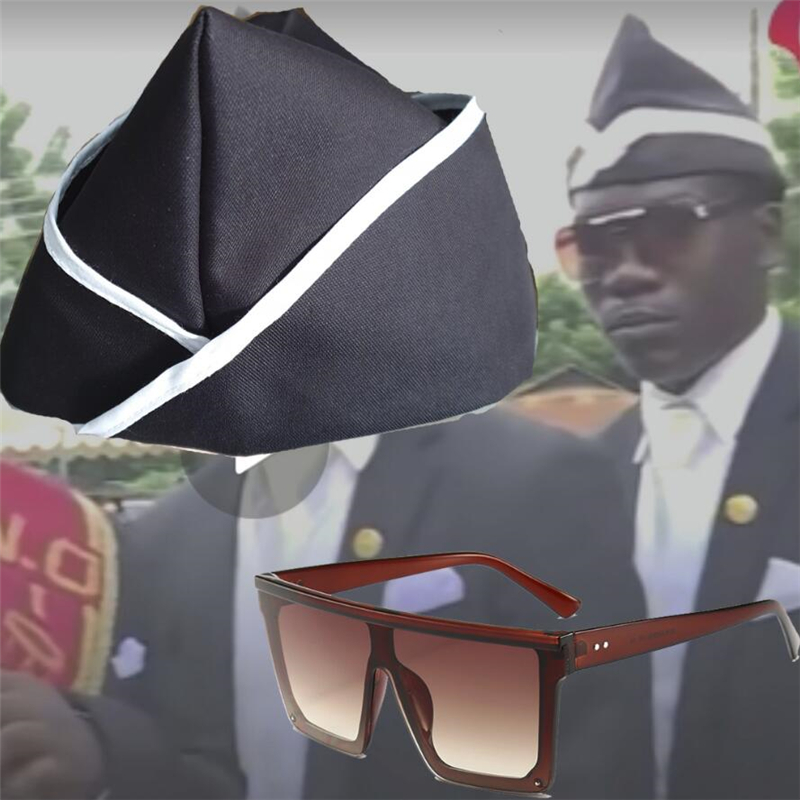 Hot Ghana Dancing Pallbearers Blacks Carry The Coffin Team Cosplay Blacks Carry The Coffin Glasses Hat Costume Prop