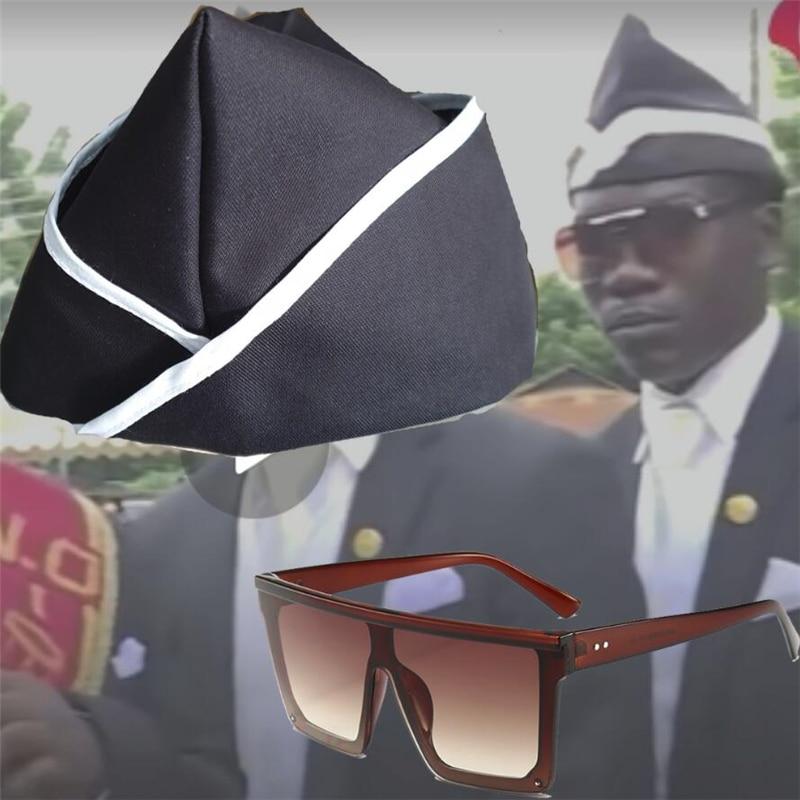 Hot Ghana Dancing Pallbearers Blacks Carry The Coffin Team Cosplay Blacks Carry The Coffin Glasses Hat Costume Prop