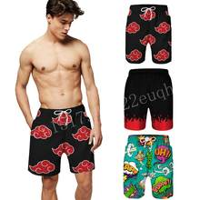 NARUTO Cosplay Animn Beach Shorts 3D Printing Casual Board Shorts Costume Mens Shorts Summer Pants Bermuda Swimwear Quick Dry(China)