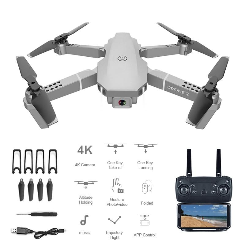 E68 FPV Drone 4K Profesional 1080P Dron Quadrocopter With Camera Wide Angle Dual Cameras Altitude Holding Foldable RC Quadcopter