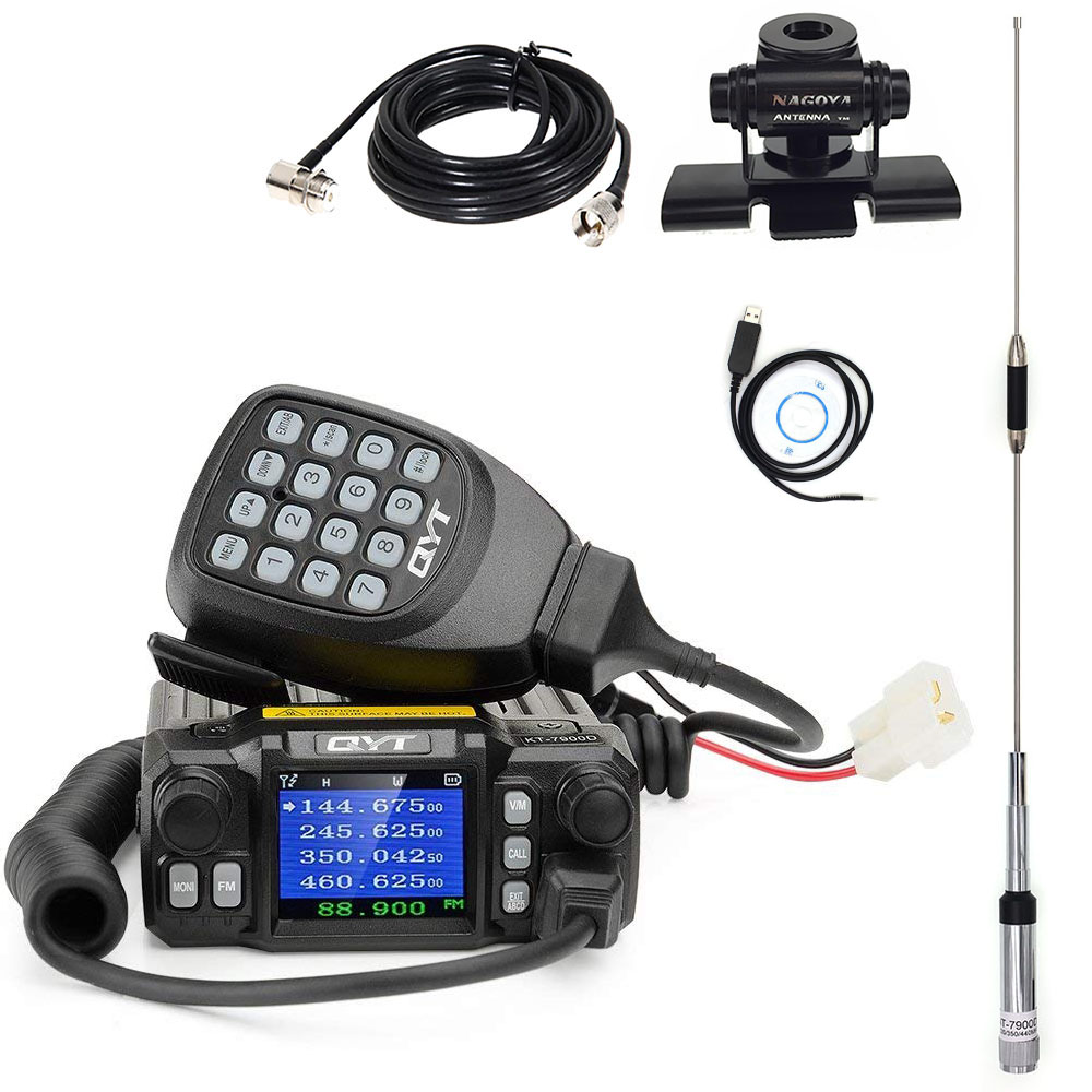 QYT KT-7900D Stable Frequency Car Mobile Radio VHF UHF 200 Channels 5-50 Km Distance CB Transceiver Radio Comunicador
