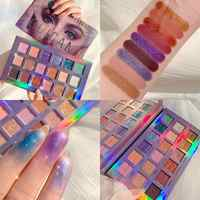 GUICAMI 18Color Nude Shining Eyeshadow Palette Makeup Glitter Pigmented Smoky Smooth Eye Shadow Waterproof Lasting Cosmetics Kit