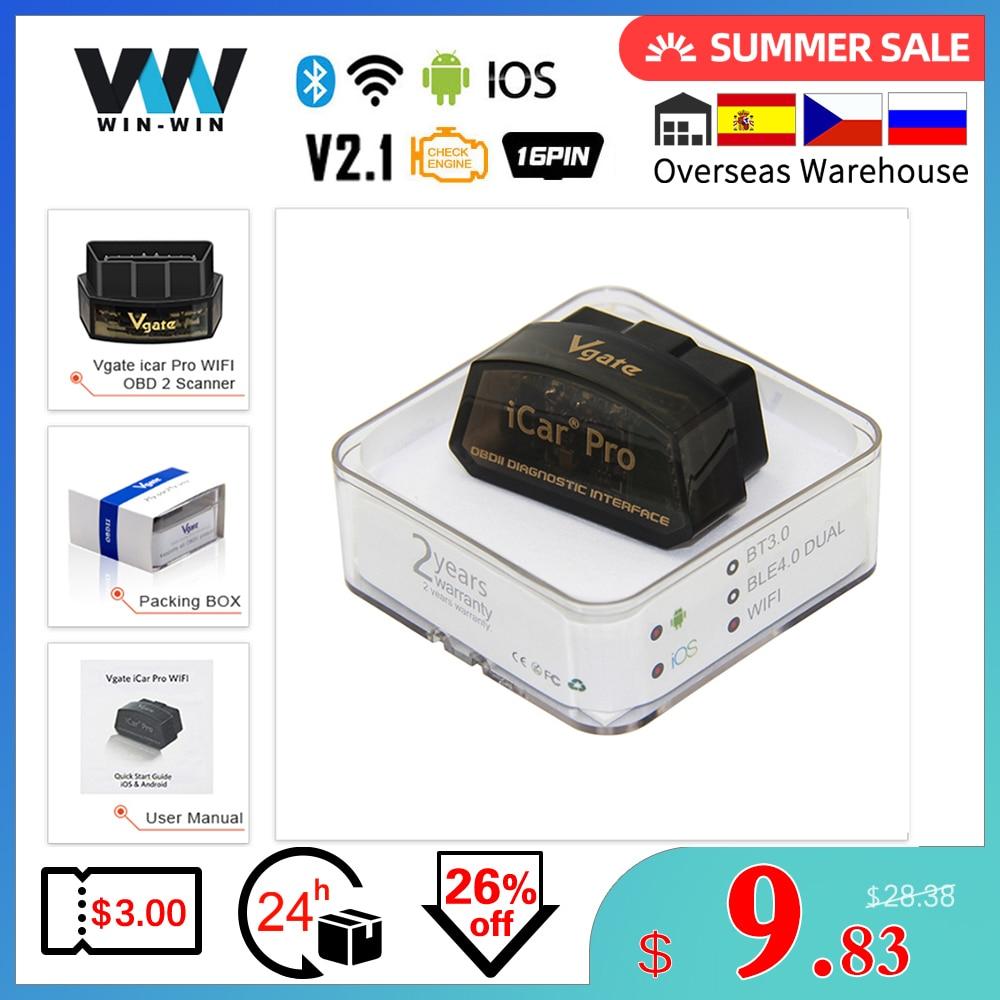 Original Vgate iCar Pro Bluetooth 4 0 WIFI ELM327 V2 1 OBD2 Scanner ELM 327 V2 1 For Android IOS OBD2 Car Diagnostic Auto Tool