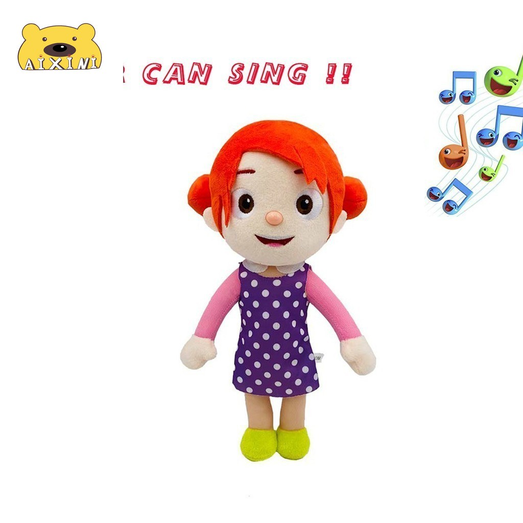 JJ Cocomelon Toys Doll Cocomelon Jj Doll Sing Kids Toys for Boys Cocomelon Bedtime Jj Music Doll Family Kid Gift Anime Plushie 4