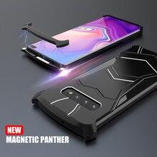 Роскошные Алюминий бампер магнитное рамка чехол для телефона для samsung Galaxy S10 плюс S10E чехол Магнитный металлический корпус Fundas чехол