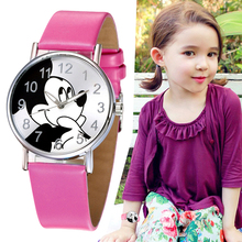 Girls Watches Kids Mickey Mouse Fashion Simple Watc