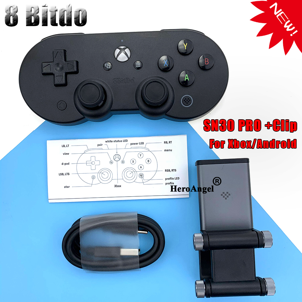 8BitDo SN30 Pro Bluetooth Game Controller Gamepad for -Xbox Cloud Gaming on -Android Includes Clip for -Android