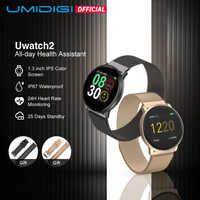 Umidigi uwatch2 relógio inteligente para andriod, ios 1.33 full tela sensível ao toque completa ip67 25 dias de espera 7 modos do esporte completo metal unibody reloj