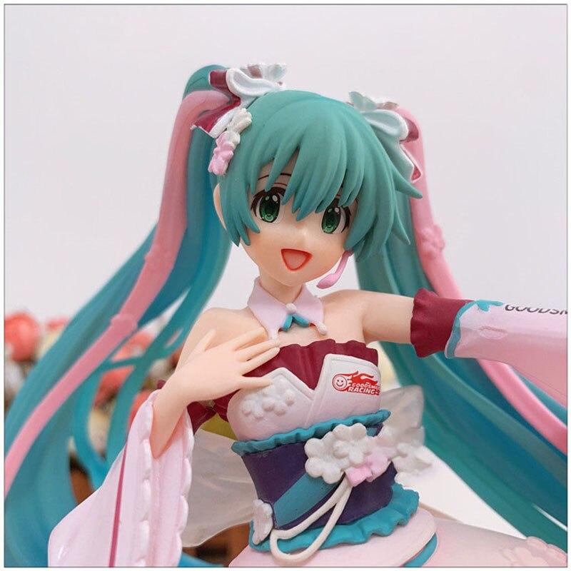 Фигурная кукла модель Spot Bandai Racing Tone Hatsune Sakura Jingpin кимоно ручной работы Miku коллекционные игрушки подарки для друзей Игровые фигурки и трансформеры    АлиЭкспресс