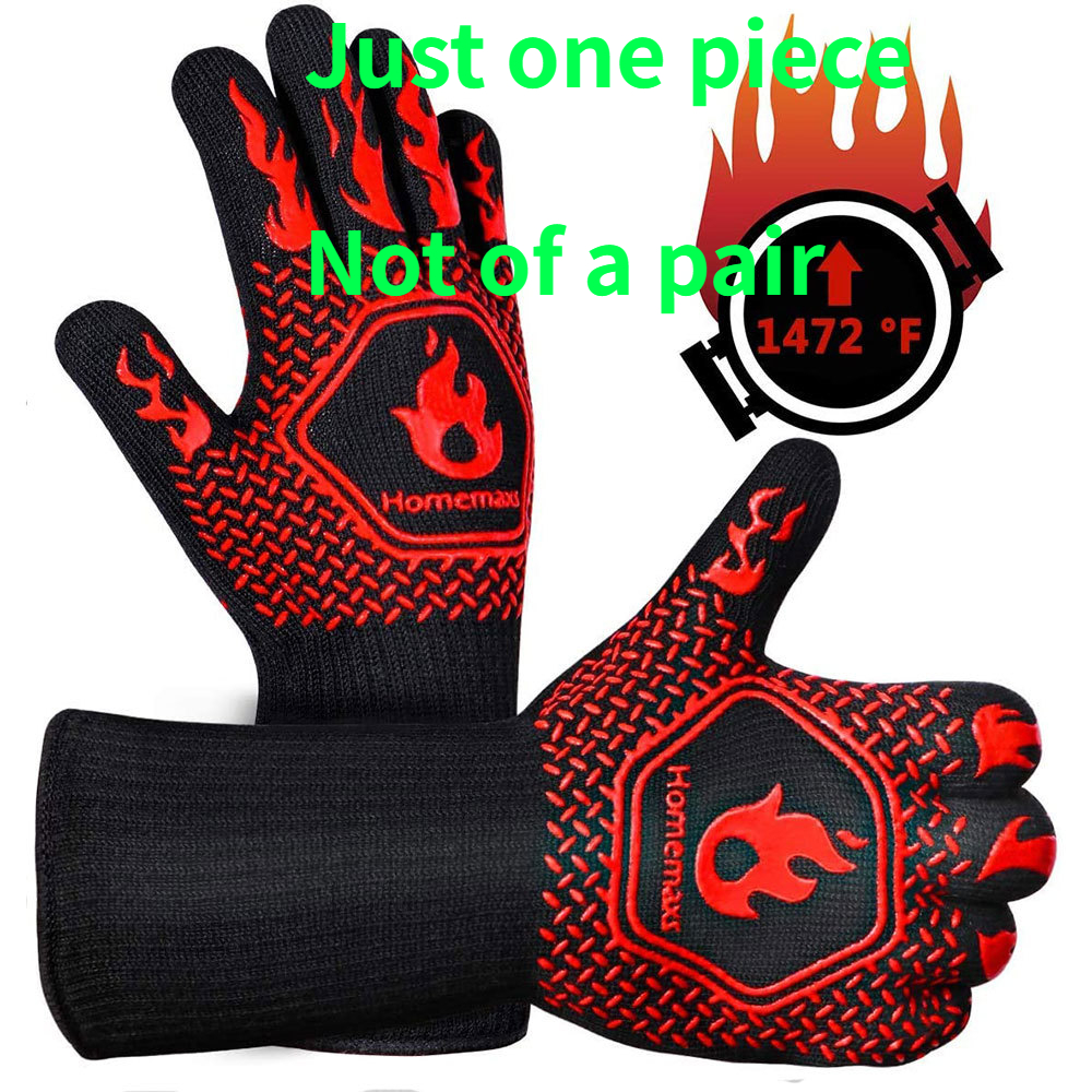 Microwave Gloves Oven Mitts Fireproof Barbecue-Heat-Insulation One-Piece High-Temperature-Resistance