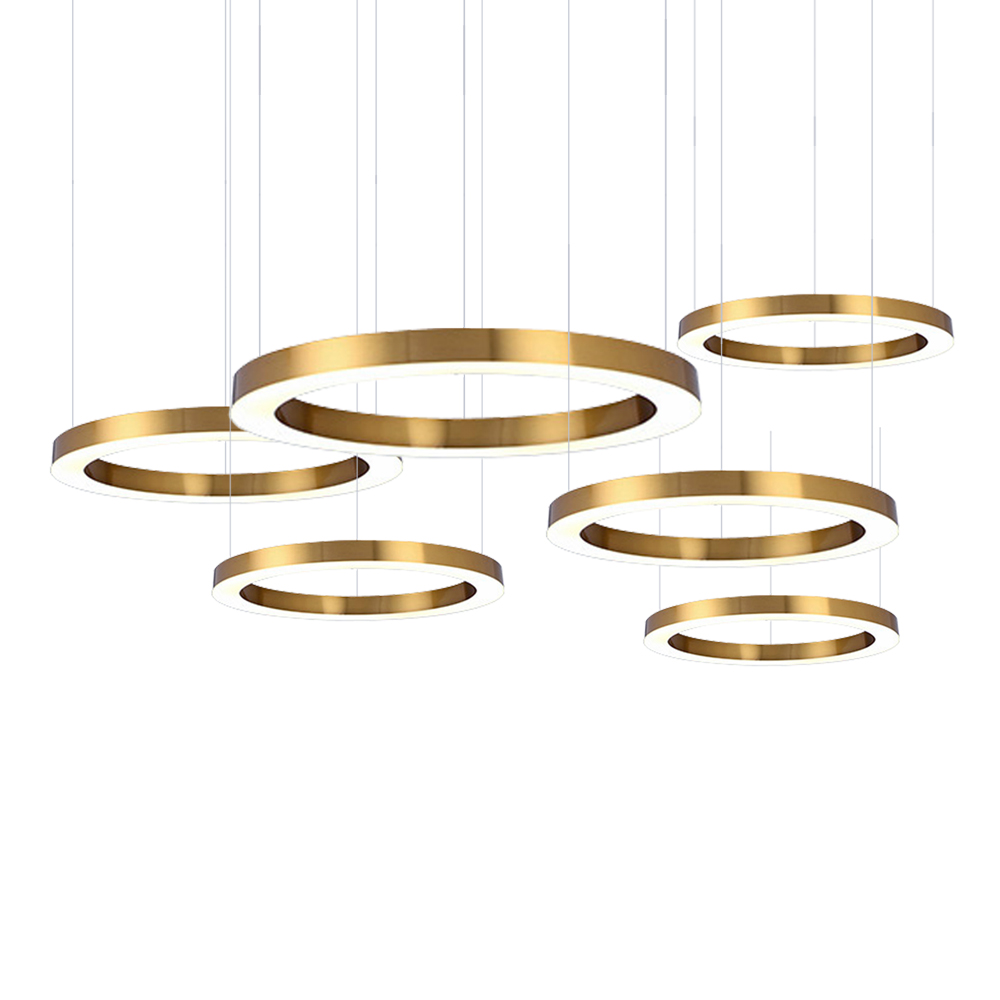 Ring Design Modern LED Chandelier Lamp Stainless Steel Gold Chandelier Living Lighting And Projects Lights
