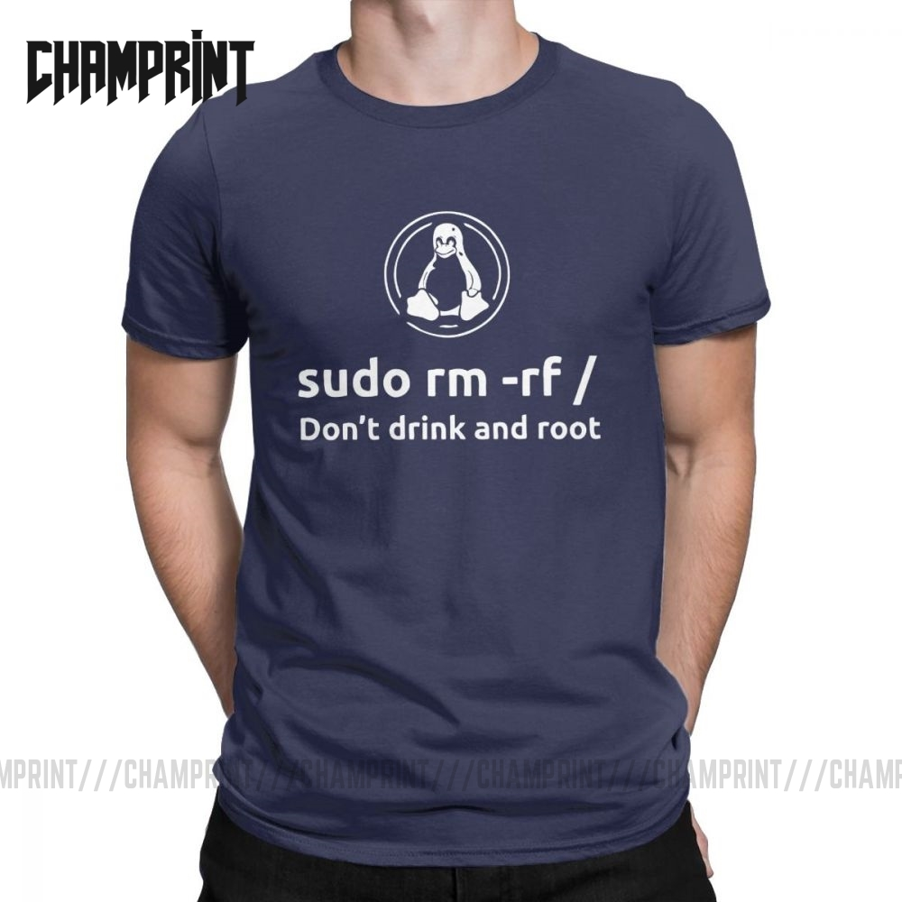 Programmer Programming Coding Coder Men T Shirt Linux Root Sudo Fun Tee Shirt Short Sleeve T-Shirt 100% Cotton Gift Clothes