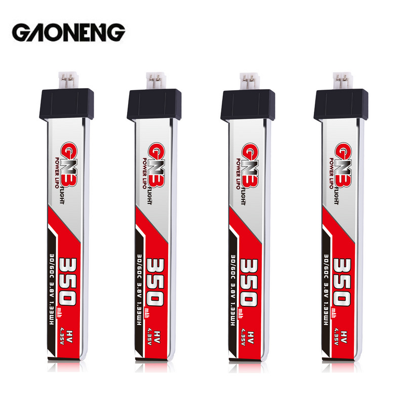 Gaoneng GNB 1S 350MAH 3.8V HV 4.35V 30C Lipo Battery PH2.0 Plug For BetaFPV Whoop RC FPV Racing Cine Whoop BetaFPV Drone