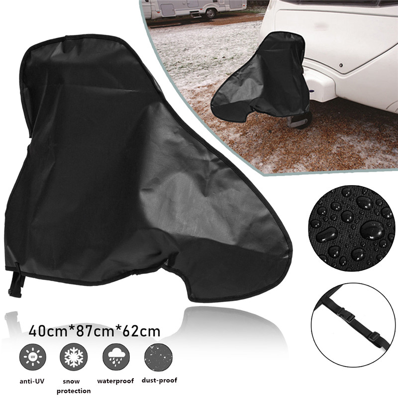 87x62x40cm Universal Waterproof Caravan Towing Hitch Cover Rain Snow Dust Dustproof Protector Buckle Strap Cover For RV Tailer