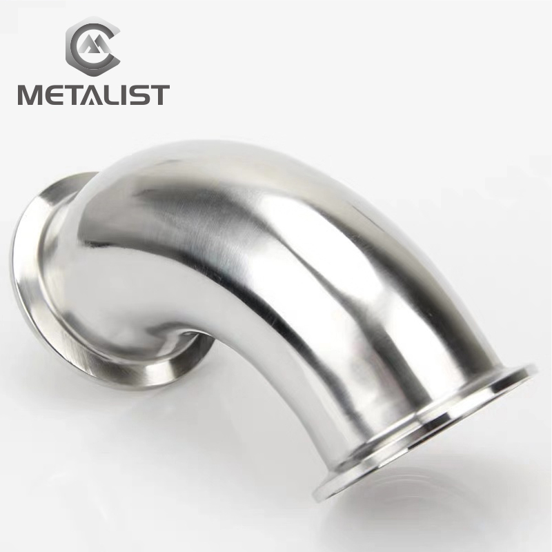 METALIST Pipe OD 19mm Stainless Steel SS304 Sanitary 90 Degree Elbow Weld Ferrule OD 50.5mm Fit 1.5