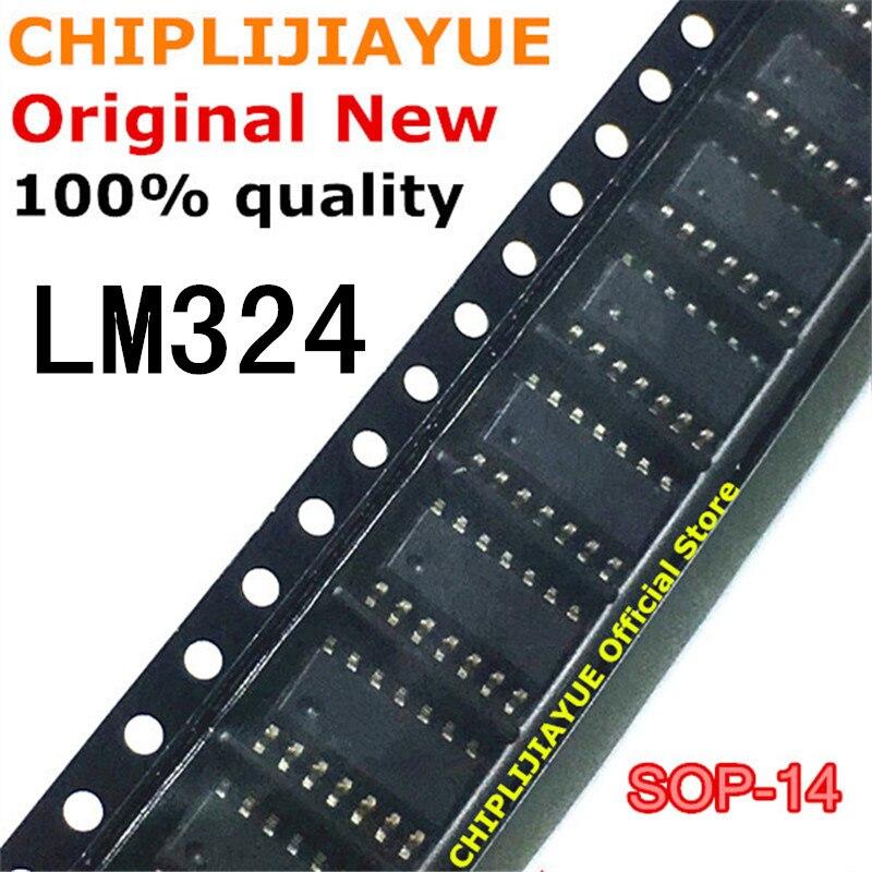 10-20 pces lm324 lm324d sop14 lm324dr sop 324 sop-14 smd novo e original chipset ic