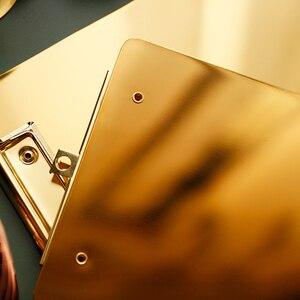 Image 5 - Phong Cách Bắc Âu Vàng Thép Không Gỉ Thực Đơn Thư Mục Tập Tin Tài Liệu Thư Mục A4/B5/A5 Ban Kẹp Sinh Viên Văn Phòng Phẩm Viết cứng Ban