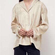 Totem* 100% silk logo embroidery nighty shirt