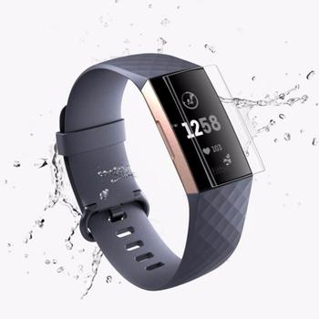 3X/kit Full Cover Tempered Glass Film Screen Protector  For Fitbit Charge 3 Watch Clear Coverage TXTB1