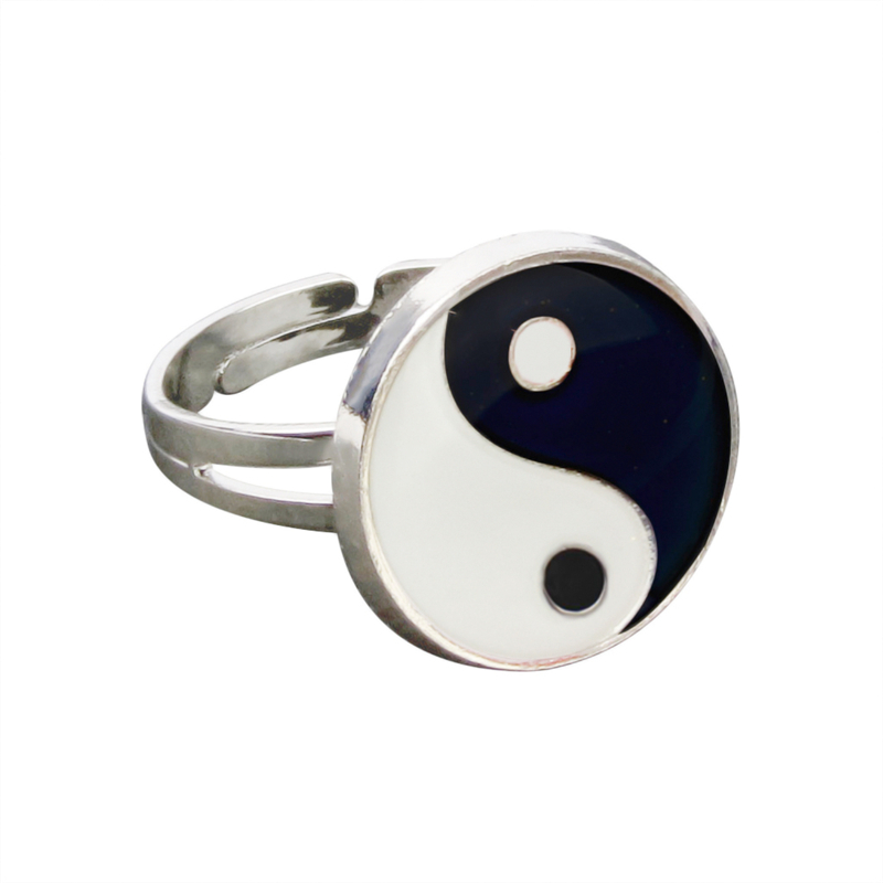 Yinyang Mood Ring Color Change Mood Ring Adjustable Emotion Feeling Changeable Temperature Ring 1PC Dropshipping 3