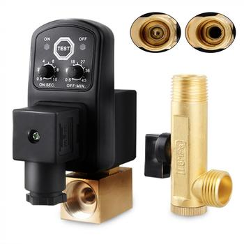 AC 220V 1/2 Brass Electronic Drain Valve Split-type with Timer OPT and Two-way Two-position for Air Compressor/Cooler