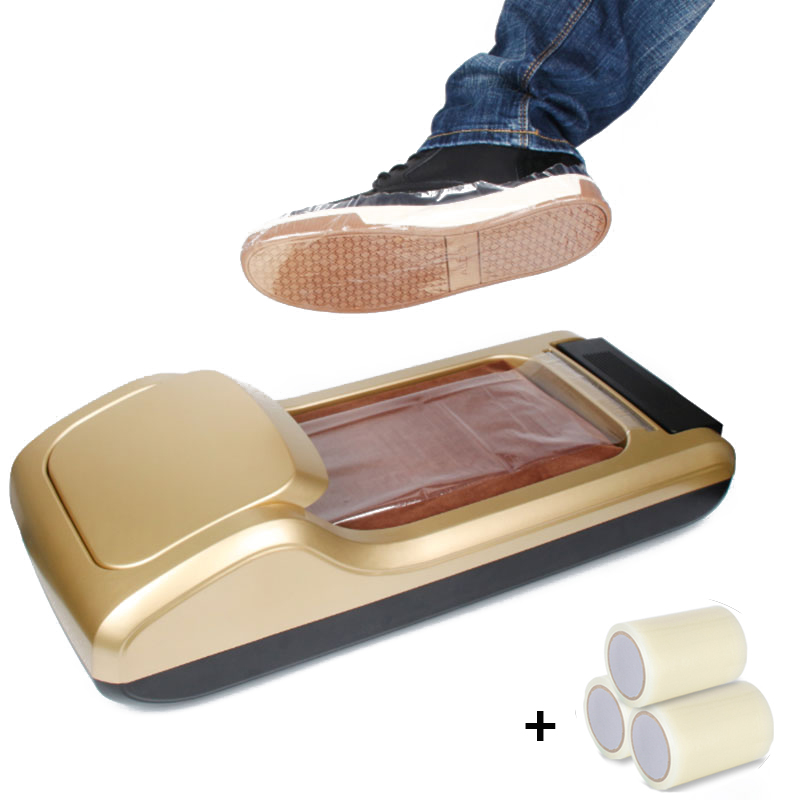 Hands Free 600/1200 Pairs Automatic Shoe Cover Machine Membrane Dispenser Waterproof Shoes Cover Household Hotel Office Time