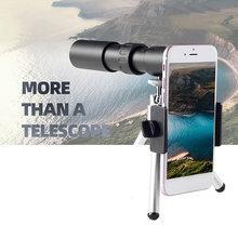 Télescope monoculaire en métal 10-300x40, Zoom de haute qualité, prend en charge Smartphone avec Vision nocturne légère