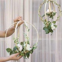 12 шт деревянные бамбуковые кольца «Ловец снов» обручи круглые