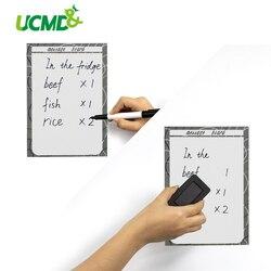 A5 Droog Veeg Magnetische Whiteboard Magneet Koelkast Sticker Schrijven Planner Keuken Kantoor Herinnering Notepad Marker Pen