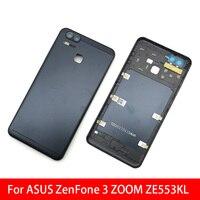 Neue Hinten Zurück Abdeckung Batterie Tür Fall Für ASUS Zenfone 3 Zoom ZE553KL Gehäuse Mit Seite buttom schlüssel